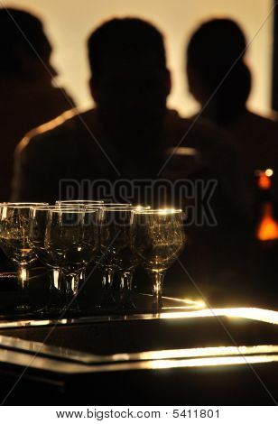Backlit Bar Scene