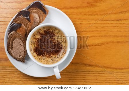 Cup Of Coffee With Dessert