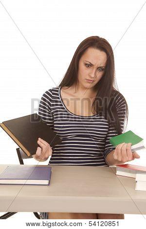 Woman Stripes Books Shock