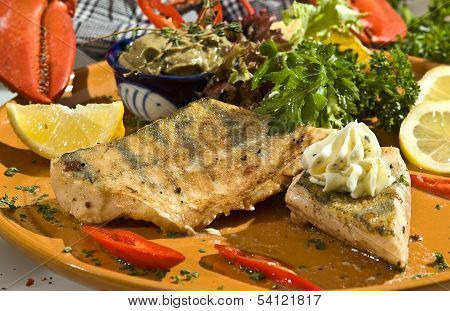 Grilled Pikeperch