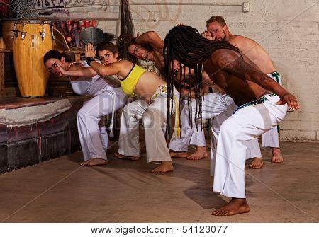 Capoeira Teacher Leading Group