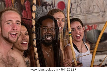 Singing Capoeira Performers