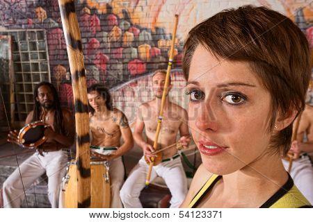 Young Female Capoeira Musician