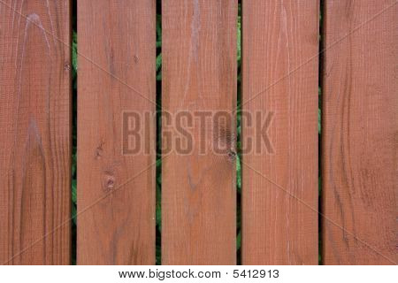 Brown Painted Wooden Fence
