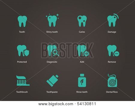 Teeth icons.