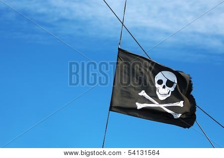Pirate Flag In The Sky