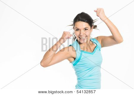 Jubilant  Woman Rejoicing