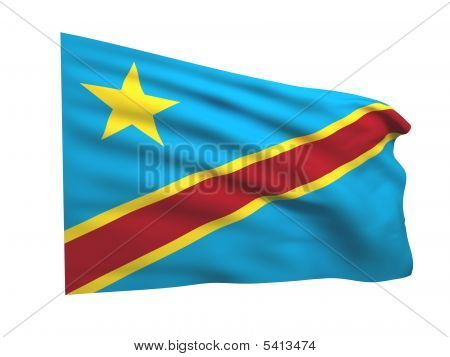 Flag Of The Democratic Republic Of The Congo