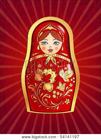 Red Russian Doll