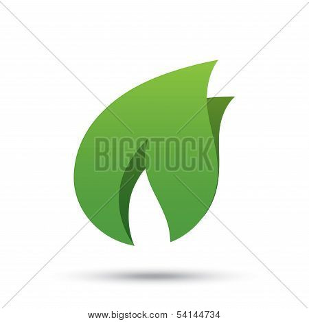 Eco icon green leaf vector illustration. Eco logo.