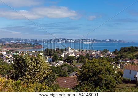 Torquay coast and bay Devon England from Paignton