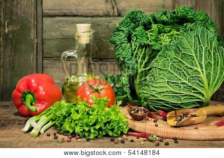 Rustick Still Life With Vegetables