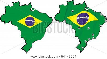 brazil - country and flag