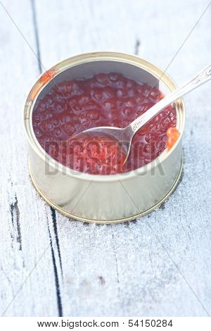 Red Soft Caviar In The Can