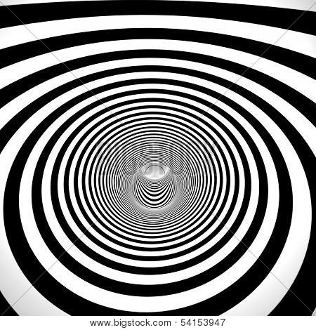 abstract 3d black and white tunnel