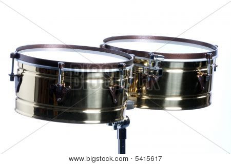 Timbales Isolated On White