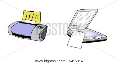 Printer And Scanner Illustration