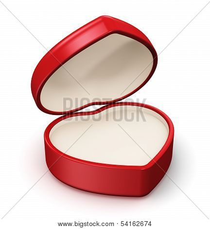 Red heart shape box for jewelry