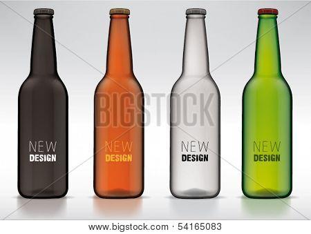 blank glass beer bottle for new design