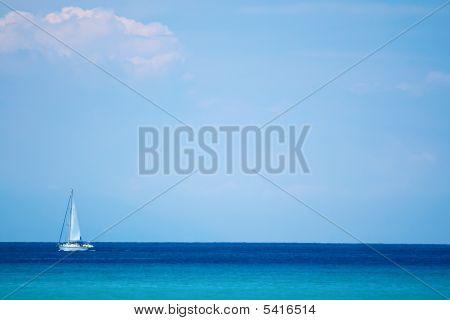Sea, Sky And Yacht