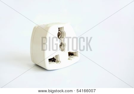 Electrical Adapters Isolated On White Background