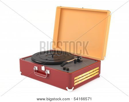Old vintage retro portable gramophone