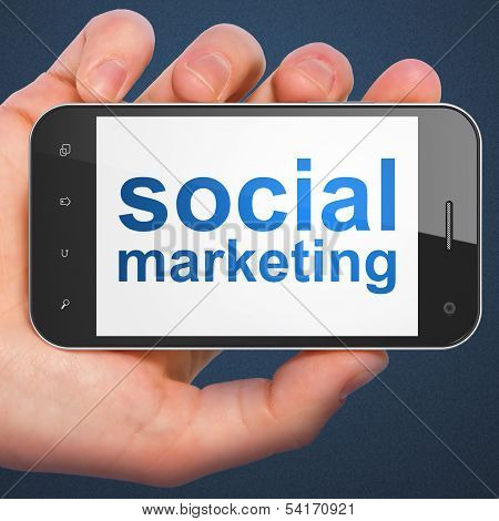 Marketing concept: Social Marketing on smartphone