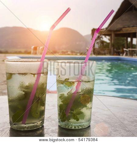 poolside mojitos