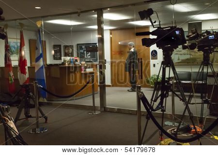 Media Setup Out Mayor's Office