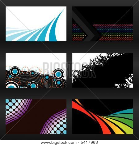 Vector Business Cards Sheet