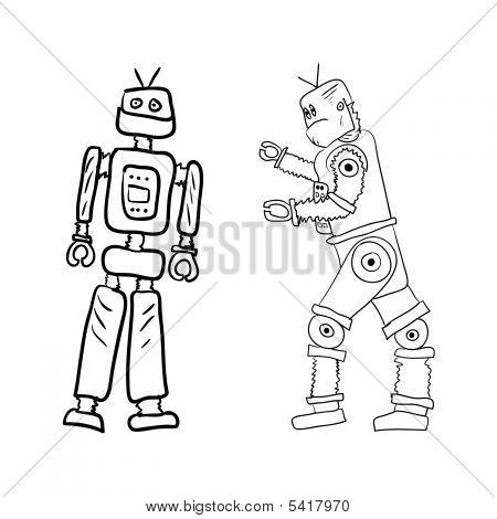 Roboter-Zeichnungen