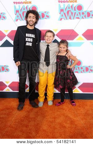 LOS ANGELES - NOV 17:  Ramy Youssef, Jackson Brundage, Bailey Michelle Brown at the TeenNick Halo Awards at Hollywood Palladium on November 17, 2013 in Los Angeles, CA