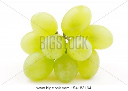 Bunch of white grape(White Muscat) isolated