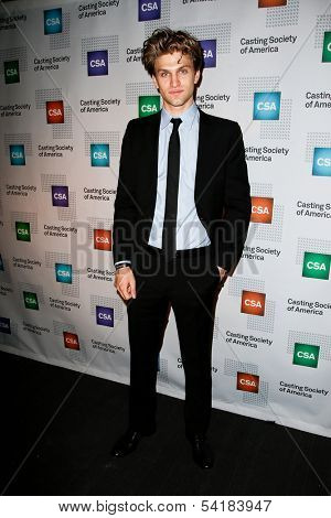 NEW YORK-NOV 18; Actor Keegan Allen attends the CSA 29th Annual Artios Awards ceremony at the XL Nightclub on November 18, 2013 in New York City.