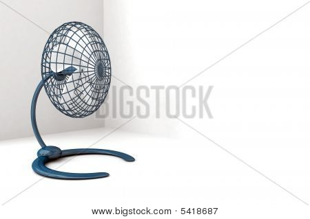 metallic fan