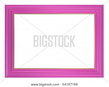 Pink picture frame. Computer generated 3D photo rendering.