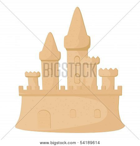Abstract sandcastle