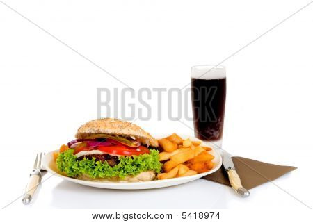 Hamburger And Fries
