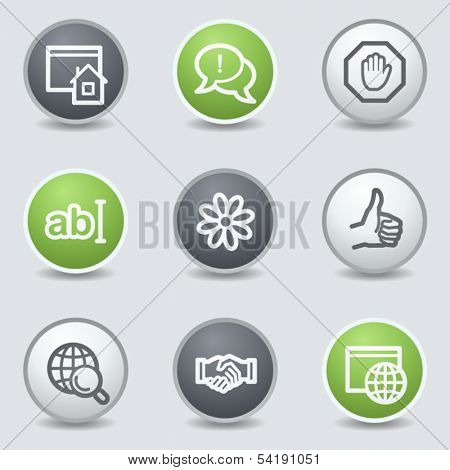 Internet web icons set 1, circle buttons