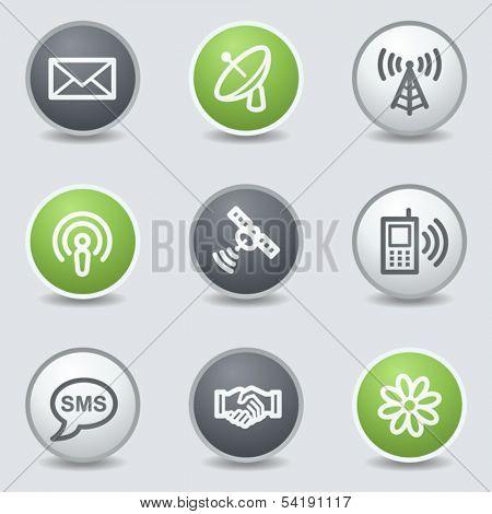 Communication  web icons, circle buttons