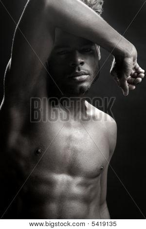 Afroamerikaner nackte Torso schwarz Sexy Mann