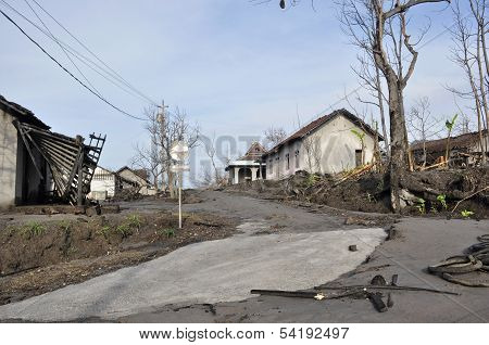 Village Damaged by Natural Disaster