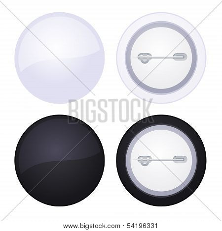 Vector Blank button badge isolated on white