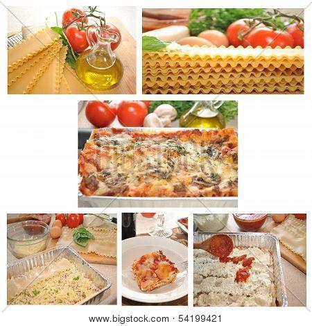 Lasagna Collage