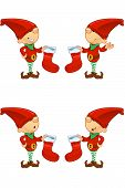 Cartoon Red Elf