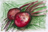 stock photo of beet  - Red mystical beet vegetables - JPG