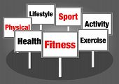 Health and fitness signs