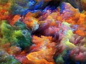 picture of grotesque  - Colorful fractal foam suitable for backgrounds on subject of design imagination and creativity - JPG