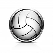 stock photo of volleyball  - Icon volleyball - JPG