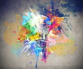 image of lightbulb  - Colours of Life - JPG